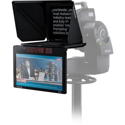 "Picture of Autoscript EPIC-IP on-camera package with 19"" prompt monitor and integrated 24"" talent monitor"
