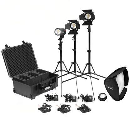 Picture of Kinotehnik Practilite 602 / 600 LED Bi-Color Fresnel 3-Light Kit