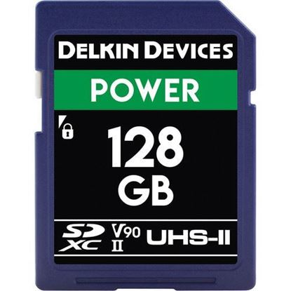 Picture of Delkin Devices 128GB Power UHS-II SDXC Memory Card
