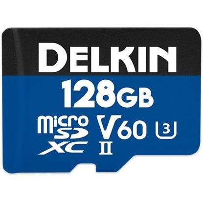 Picture of Delkin Devices 128GB Prime UHS-II microSDXC Memory Card