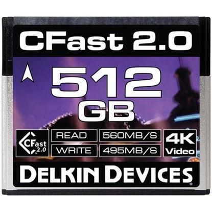 Picture of Delkin Devices 512GB Cinema CFast 2.0 Memory Card