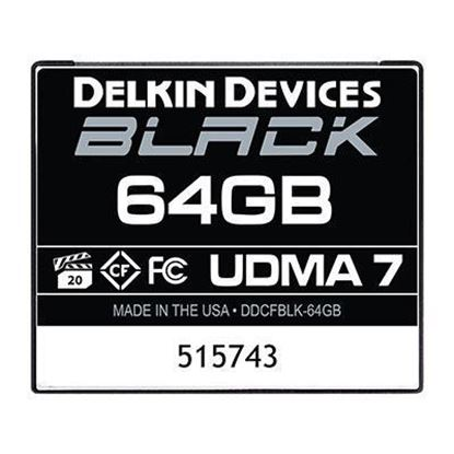 Picture of Delkin BLACK 64GB UDMA 7 160MB/s Compact Flash Card
