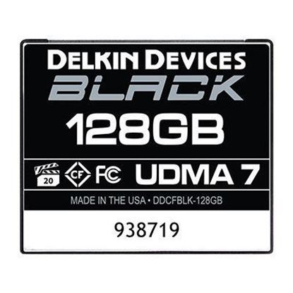 Picture of Delkin BLACK 128GB UDMA 7 160MB/s Compact Flash Card